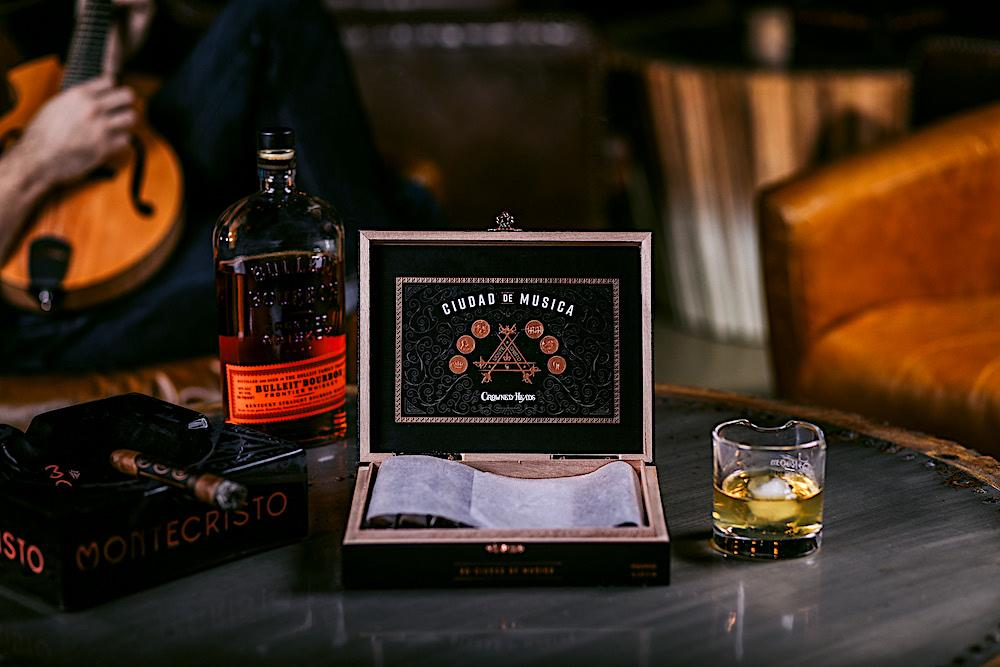 Expensive and refined habits - seasoned whiskey and elite cigars
