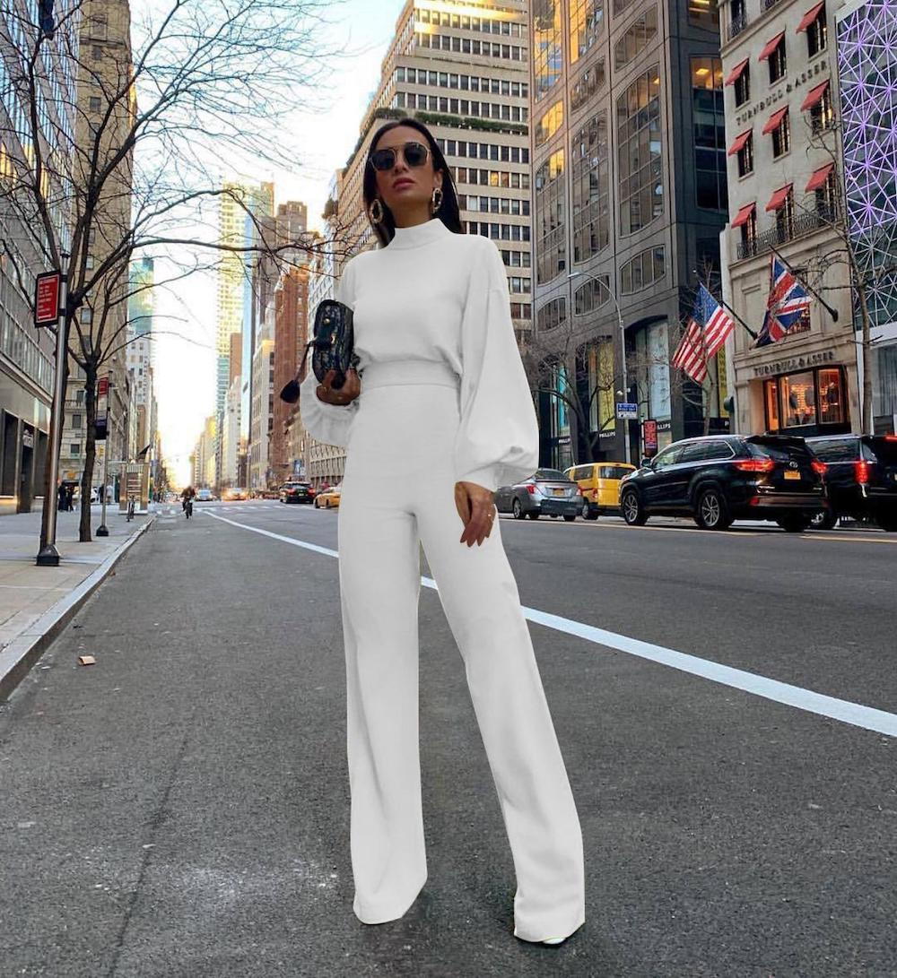 A surge of white in the latest fashion trends of women's clothing