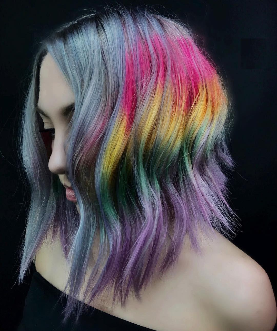 The riot of bright and juicy colors in makeup and incredible colorful hairstyles is a new modern trend in fashion. Follow the main directions and catch up the most important tips