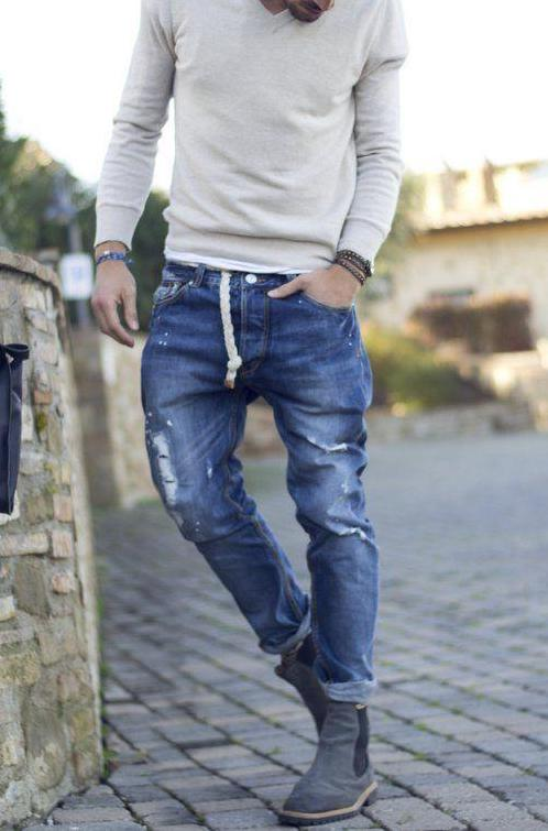 Selection of men's stylish casual looks for the spring-summer season