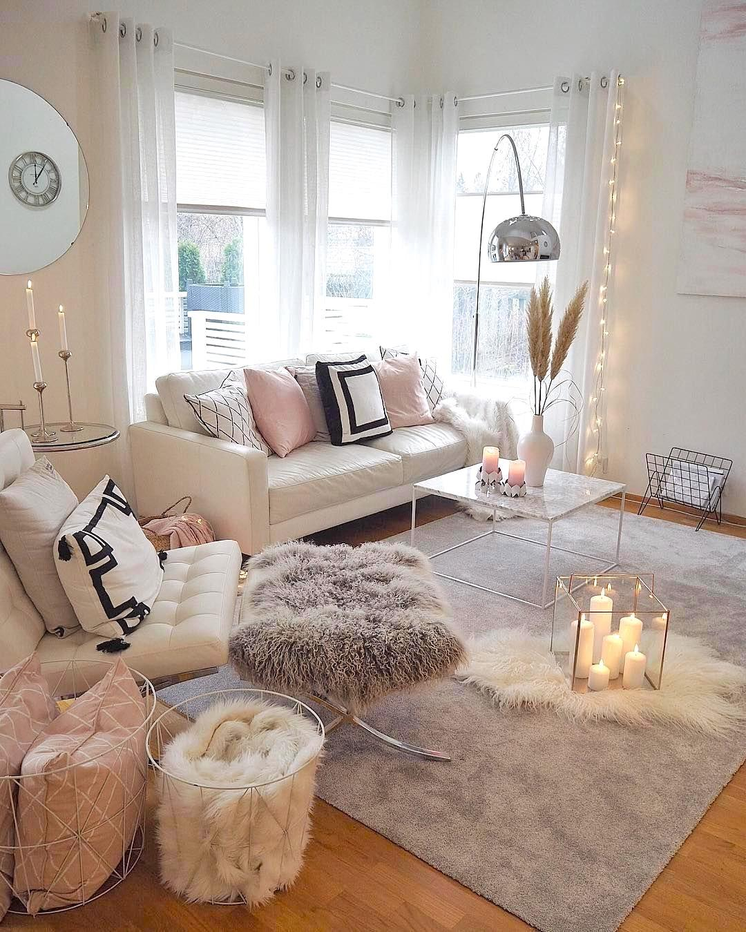 Useful tips and tricks for designing rooms in a cozy fluffy style. Pink tones especially for lovers of everything cute