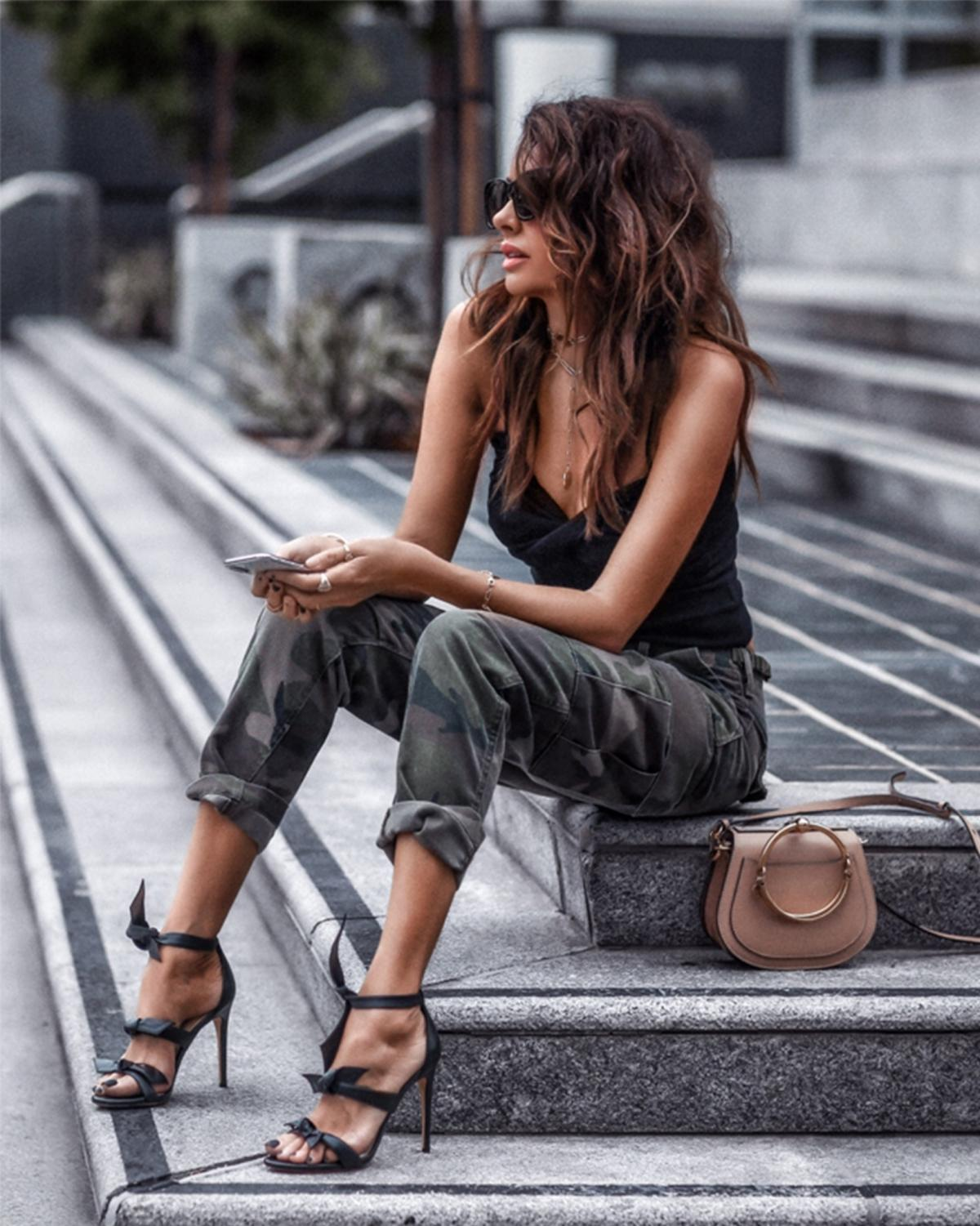 Want to experiment? Swap your regular jeans for military-style pants