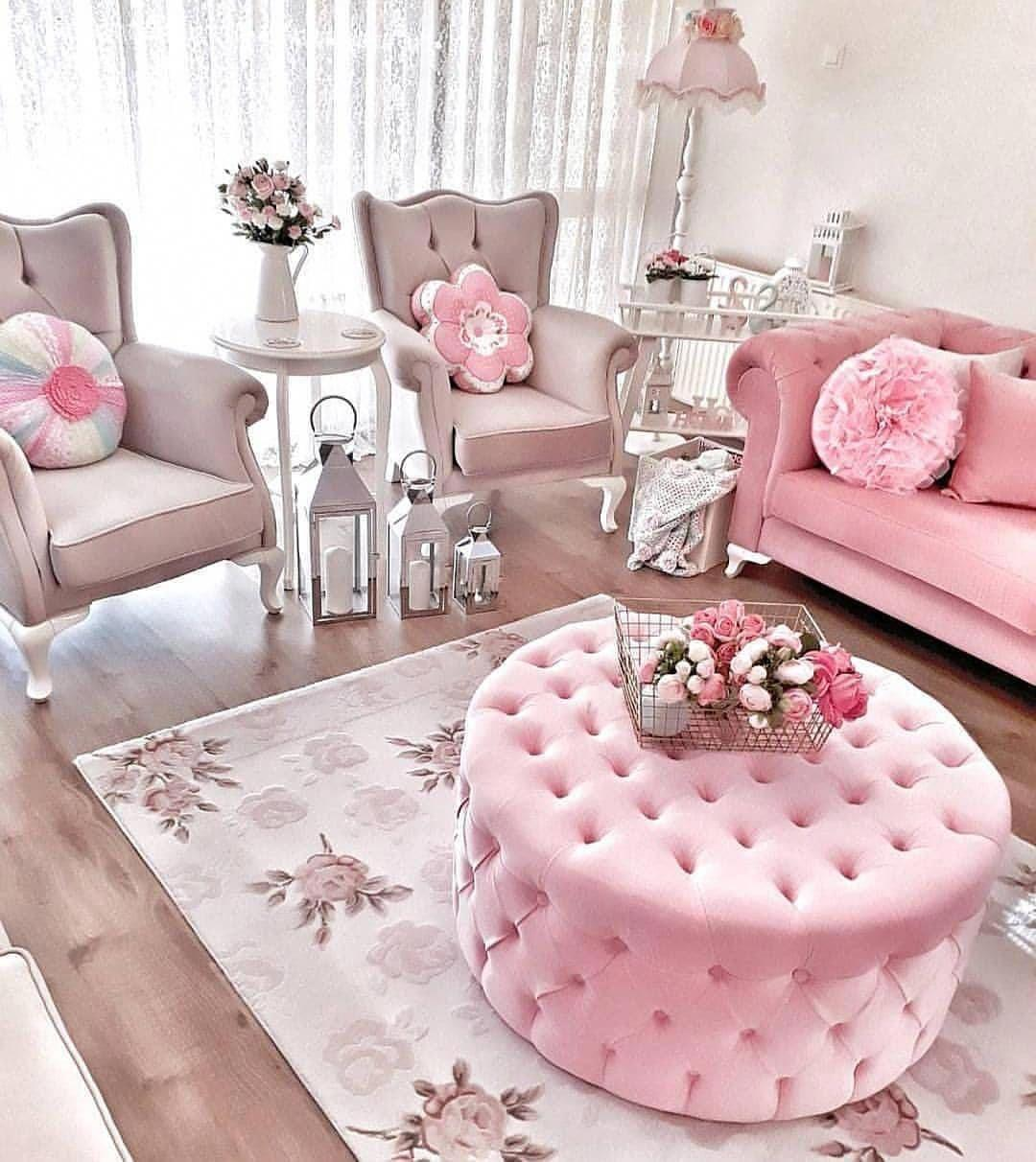 Pink is every woman's favorite color. And the pink room is our favorite room. Admire the lovely and cozy interiors together.