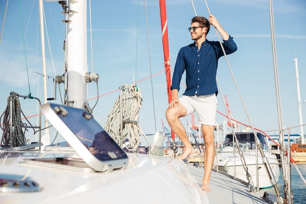 Resort beachwear for men. Choosing shorts for vacation