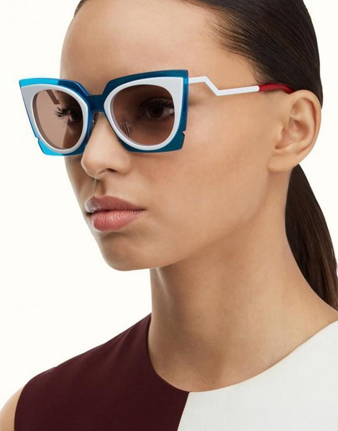 Fendi burns the summer 2015 with its Orchidea sunglasses