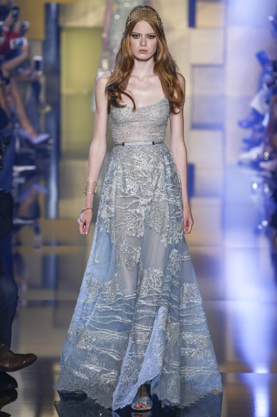 Elie Saab presented his Fall-Winter 2015 Haute couture collection