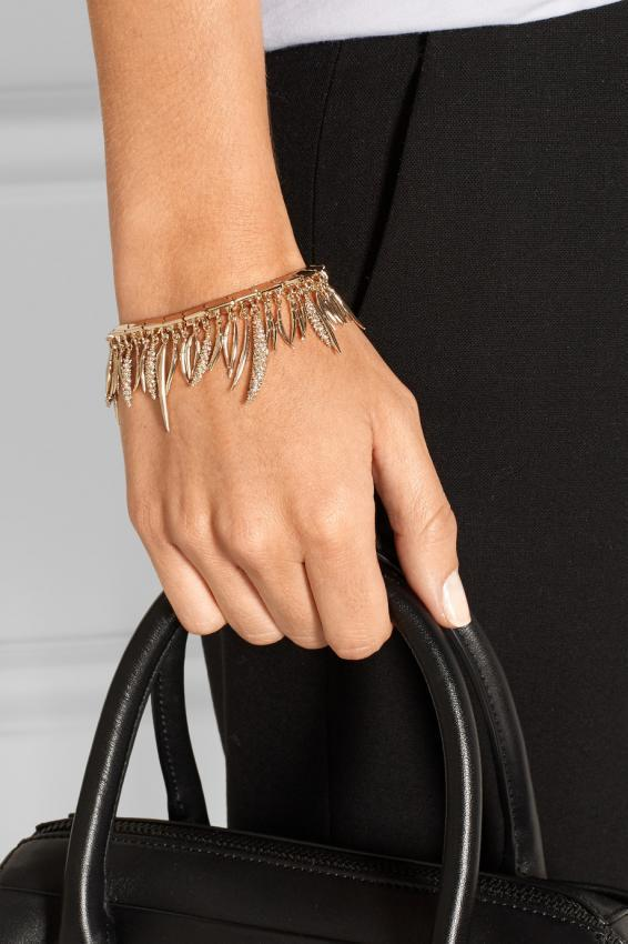 Attention on accessories in couture collections. Bracelets.