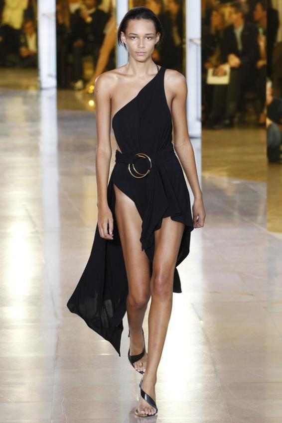 Anthony Vaccarello. Spring/Summer hot and black collection