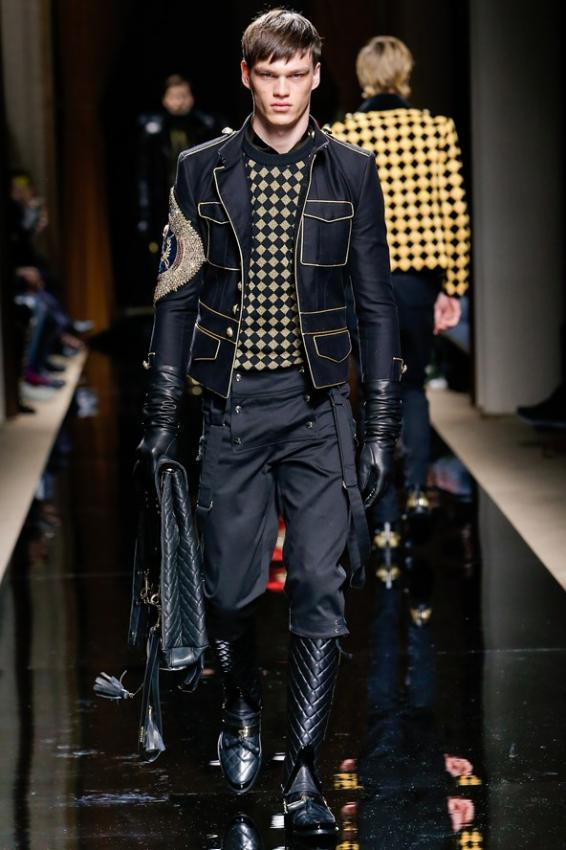 Meet the man's elegance and style. Balmain menswear Autumn/Winter