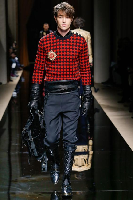 Meet the man's elegance and style. Balmain menswear Autumn/Winter