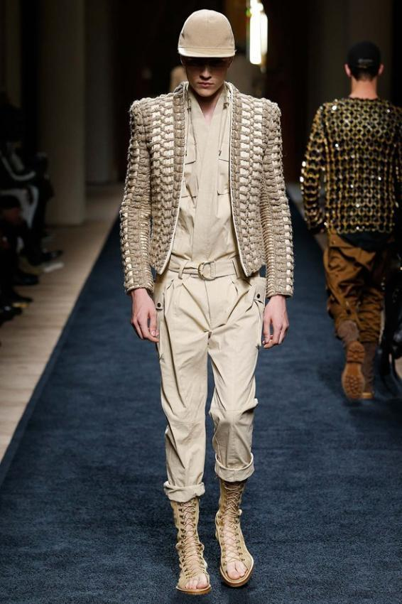 Balmain Menswear S / S 2016Safari Trend of the Season