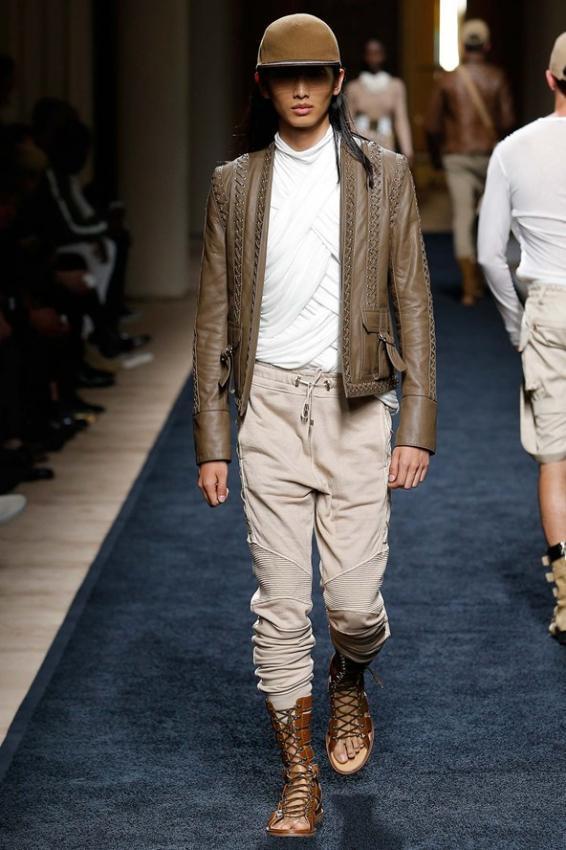 Balmain Menswear S / S 2016Safari Trend of the Season