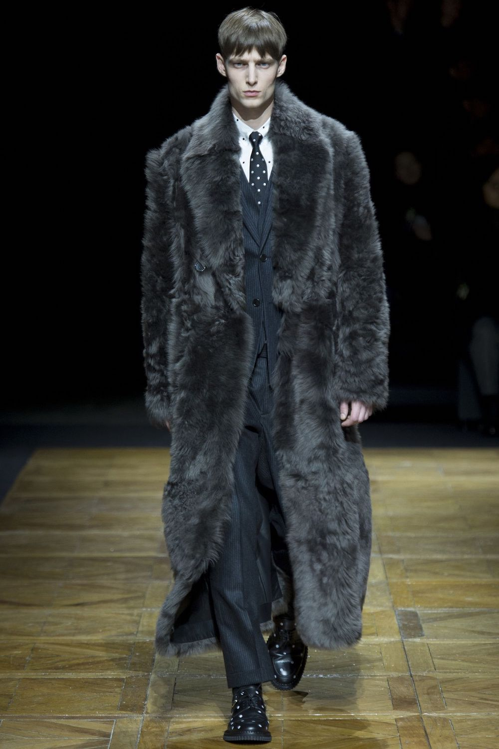 Another men's business-style fur coat from Dior