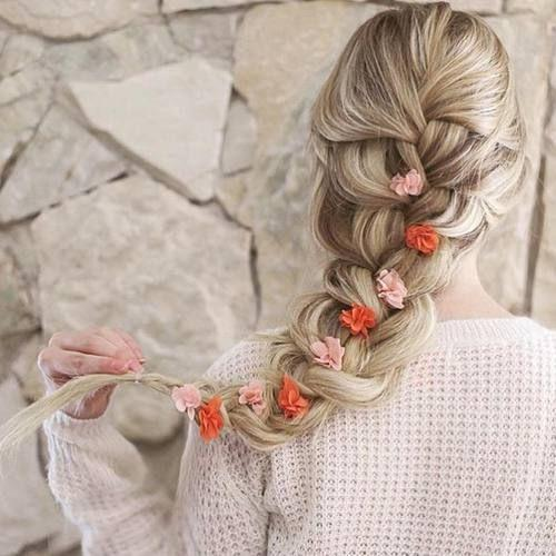 Pigtail hair. The trend of this winter
