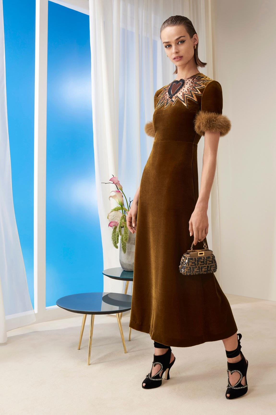 Pre-Fall Fendi collection as though created for Valentine's Day