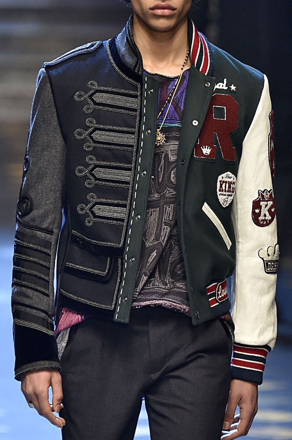 Embroidered Jacket - Dolce & Gabbana Fall 2017 Menswear Collection