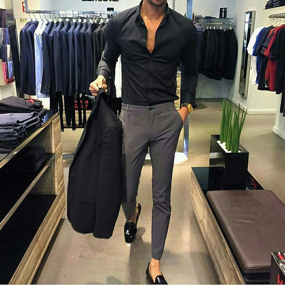 Modern business casual look