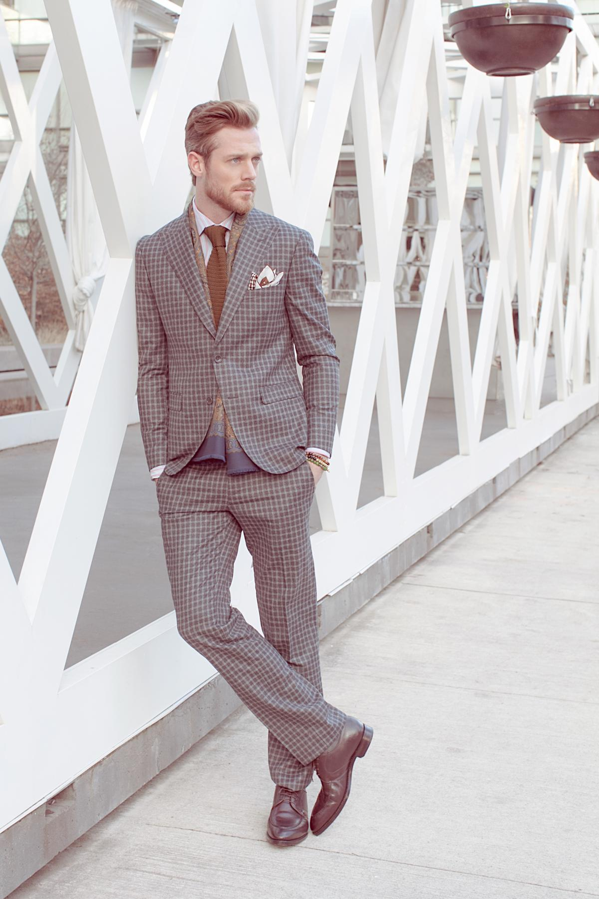 Classic grey suit is great for any occasion.