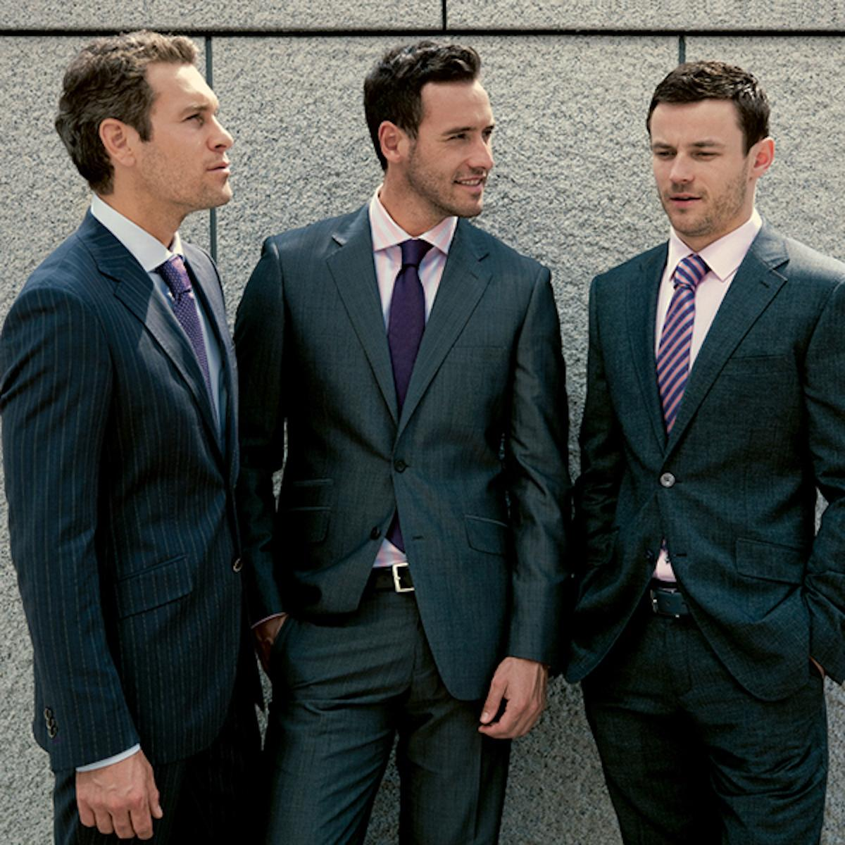 Classic outfits for businessmen. Ideal for meetings or summits