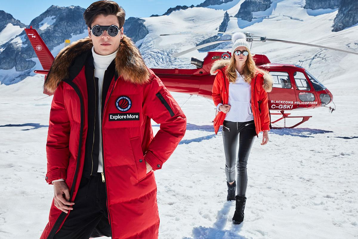 Enrique Vega warm winter photoshoot for Bosideng Campaign