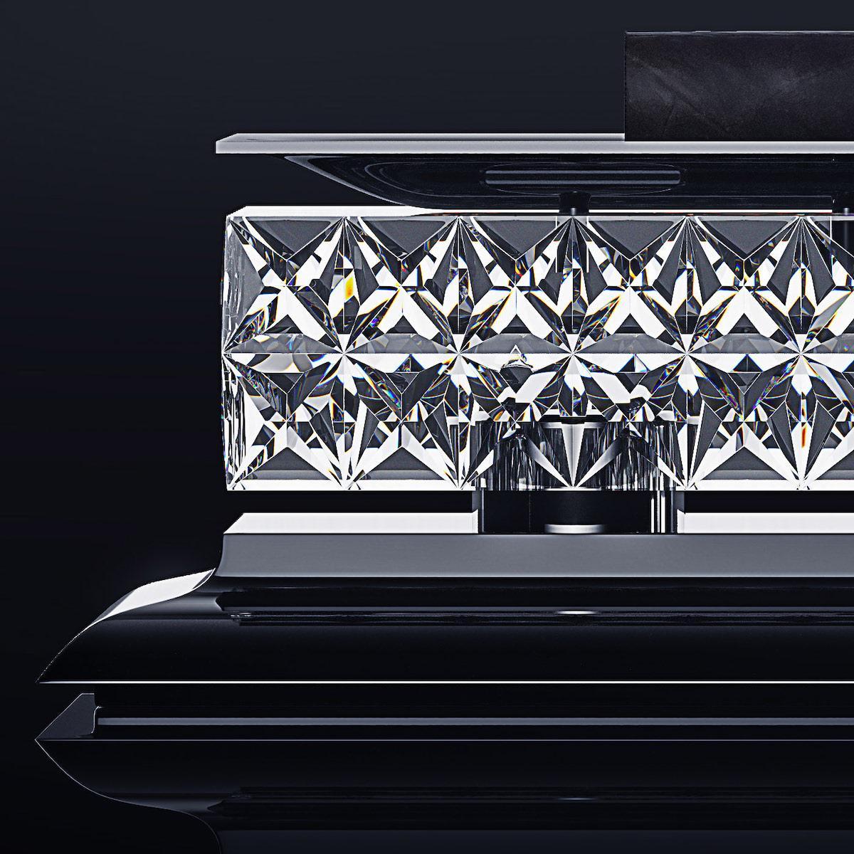 Sparkling interior piece ideal for an expensive gentlemen