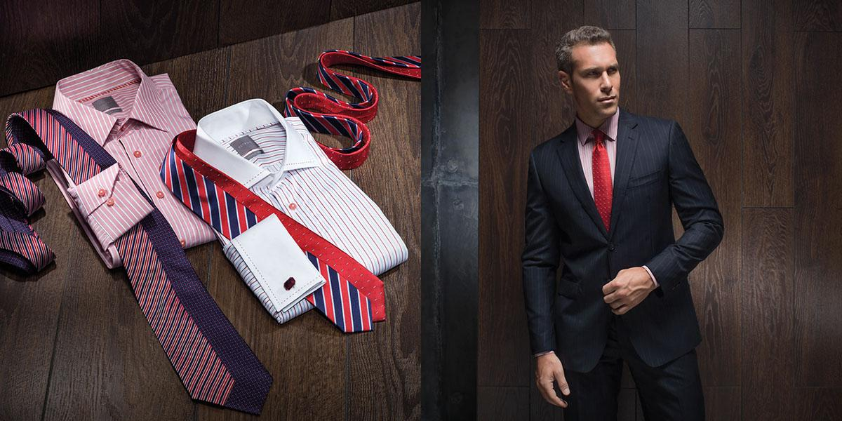 Tips to combine white or pink shirt and bright red tie in business look