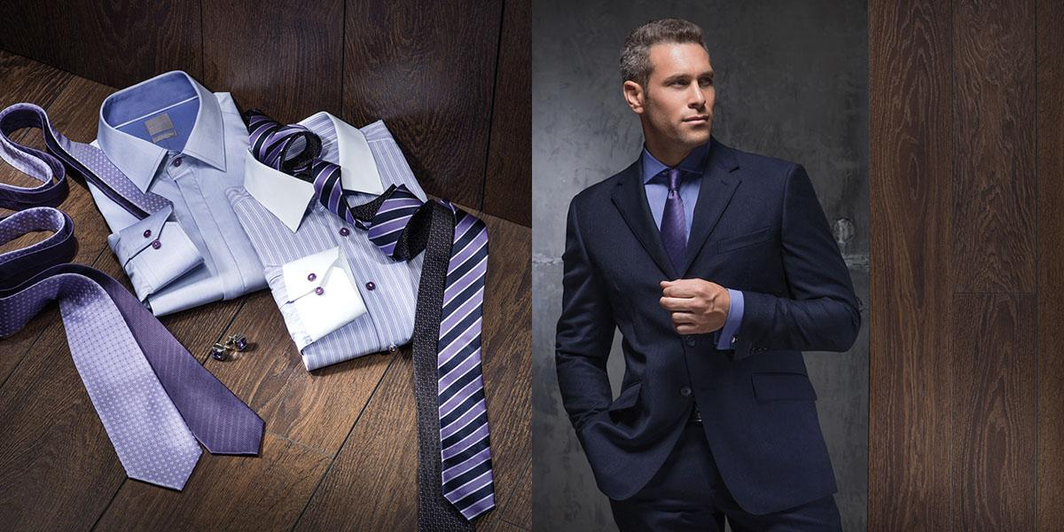 Elegant look perfect for business meeting with right color combination of suit, shirt and tie