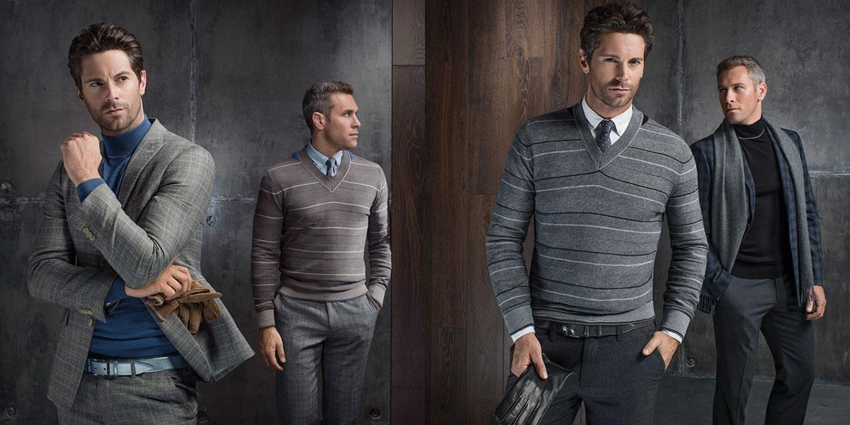 Ideas for casual look for men on coming spring. Grey blazer or sweater in stripe print