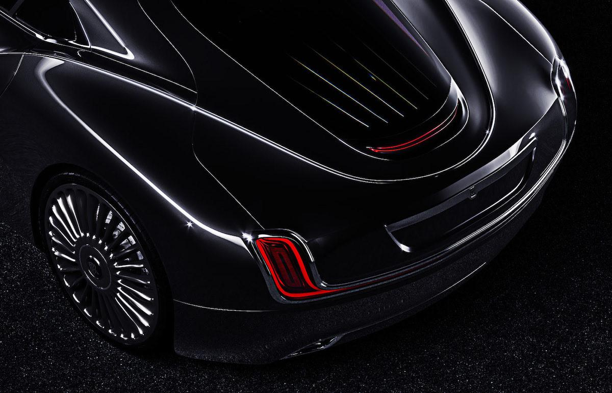 Rear optics of redesigned legendary Rolls Roys coupe