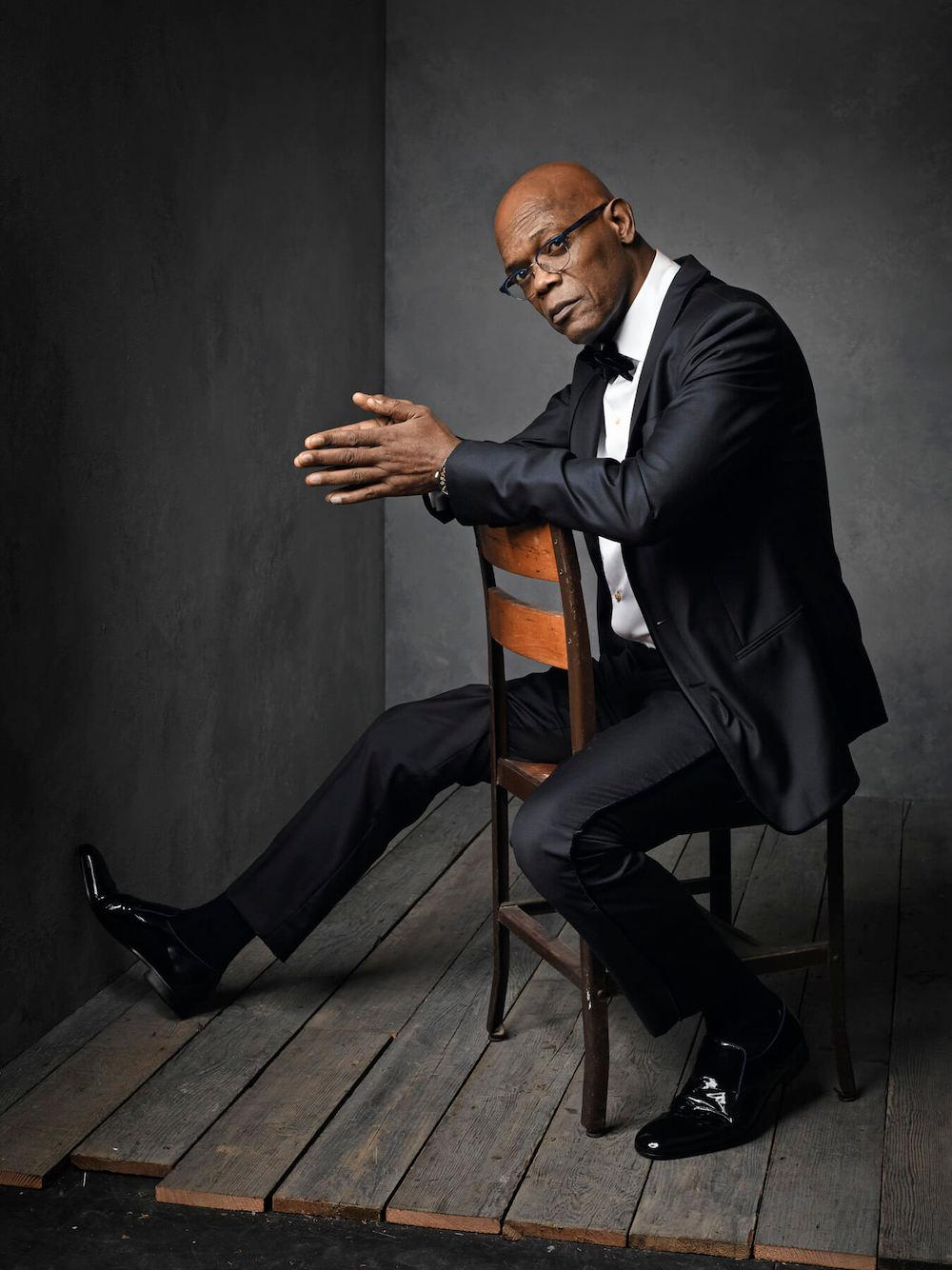 Samuel L. Jackson in photoshoot with Mark Seliger
