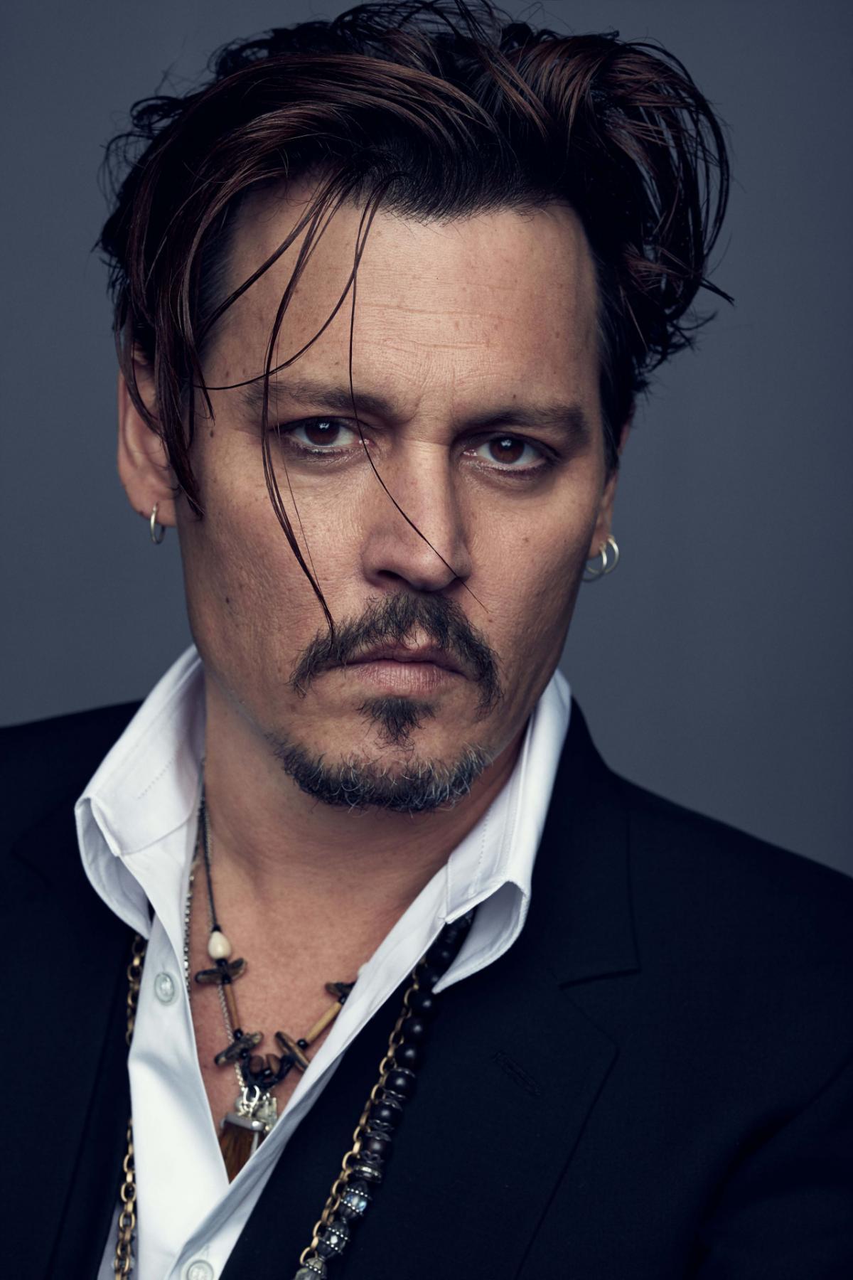 Johnny Depp elegant classic beard style
