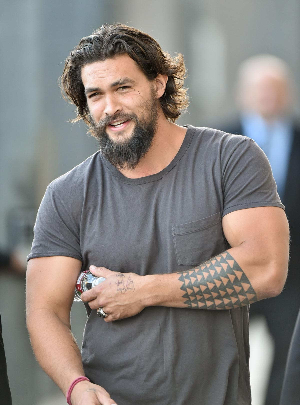Jason Momoa long beard style