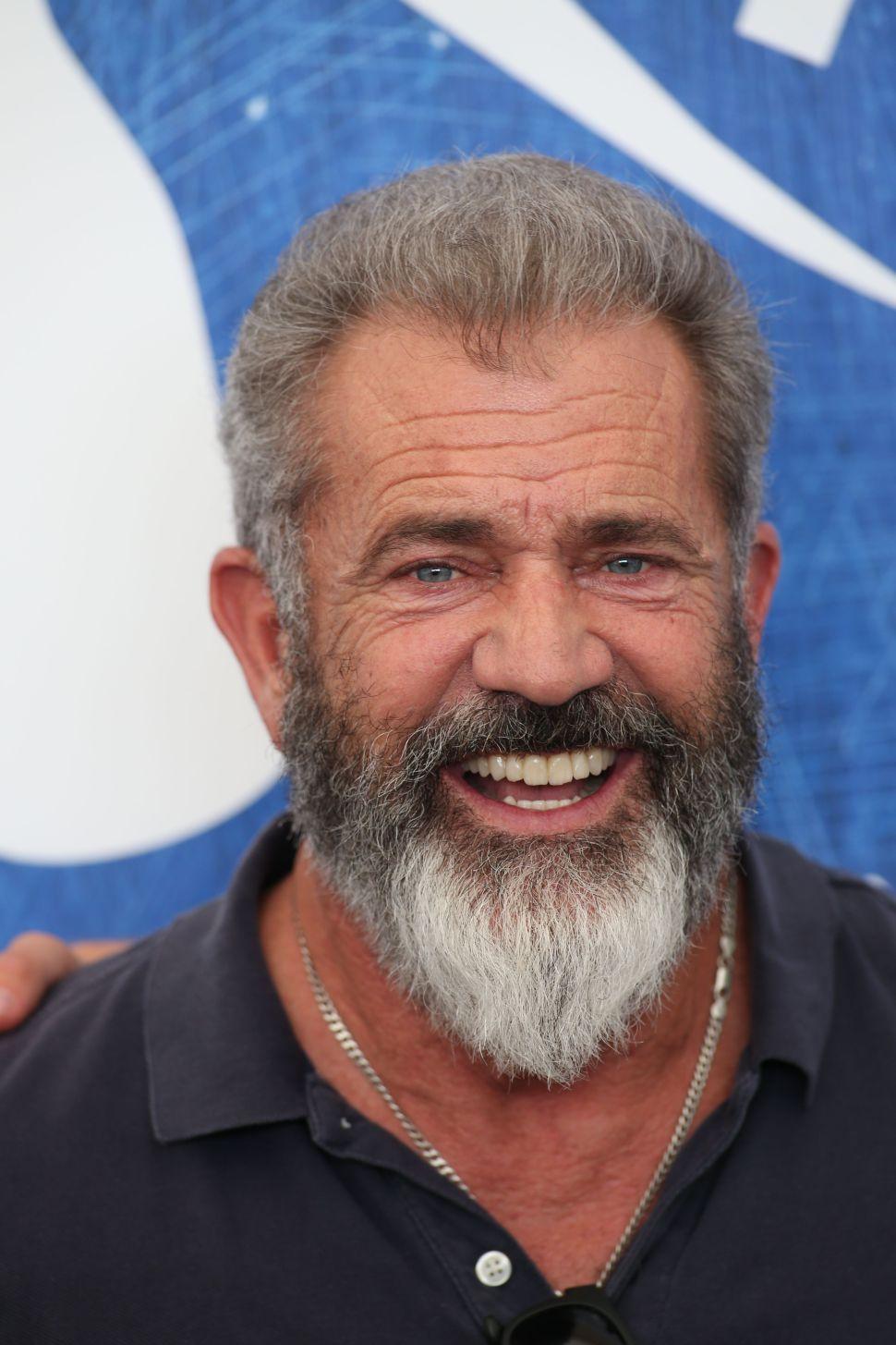 Mel Gibson long beard style