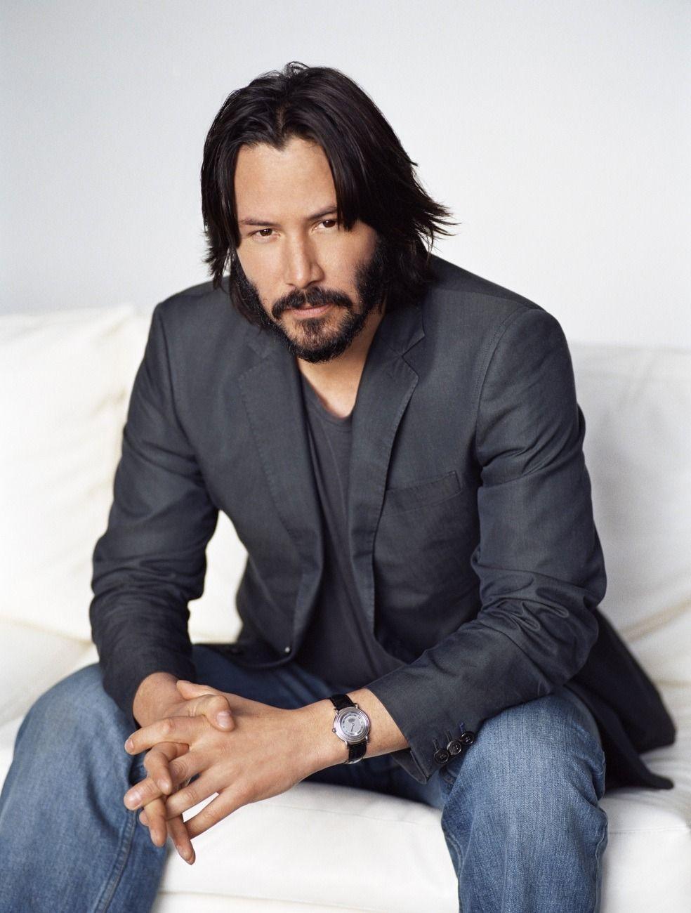 Keanu Reeves elegant classic beard style