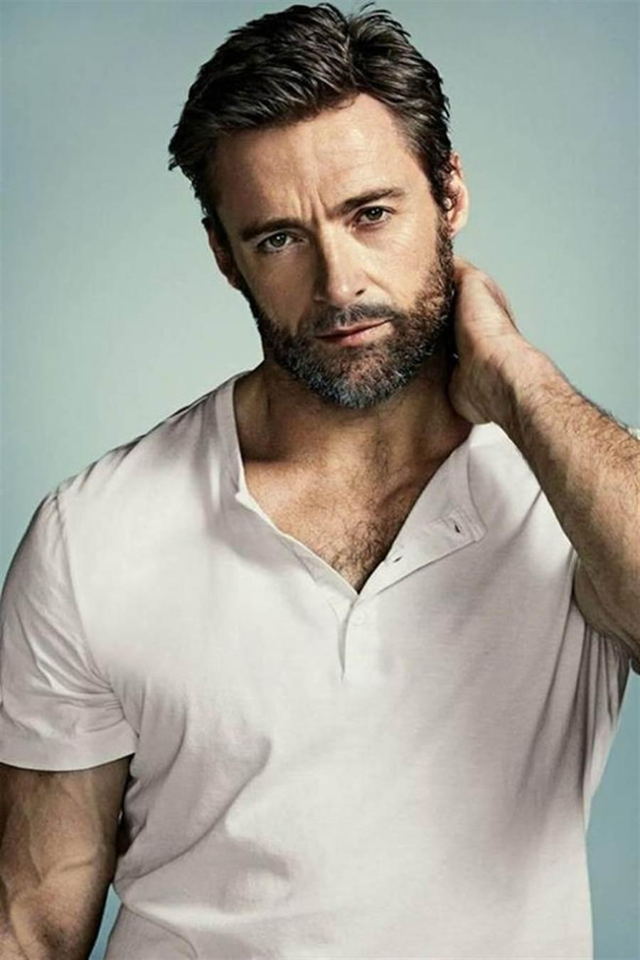 Hugh Jackman attractive full beard style