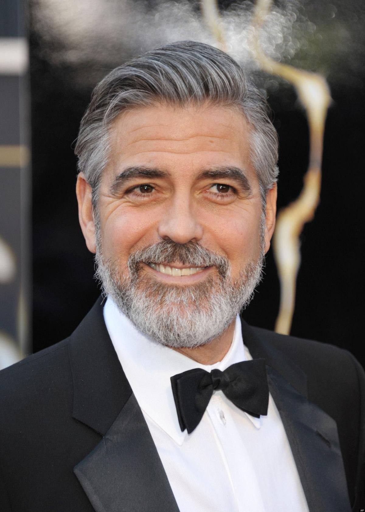 George Clooney elegant gentleman beard style