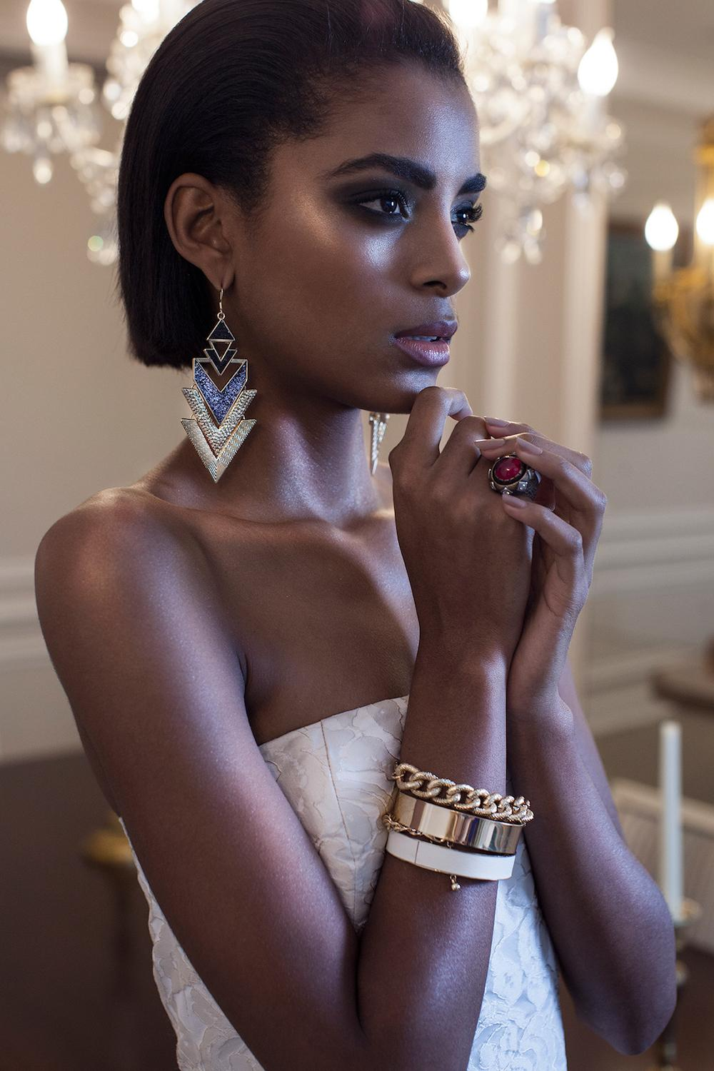 Large bracelets and rings take their place in modern fashion trends