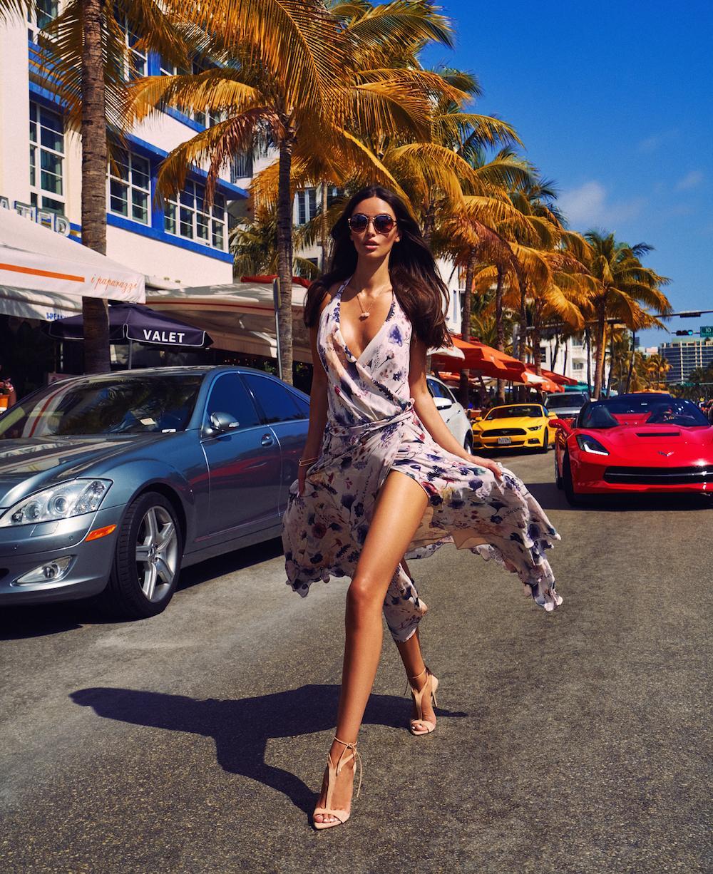 Light silk flying dress for spring-summer season