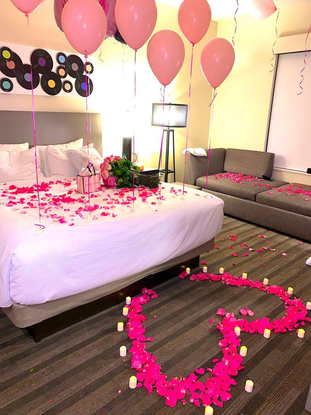 What can be cuter than heart-shaped rose petals?