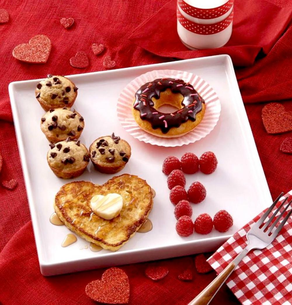 Get a little creative with the Valentine's Day breakfast