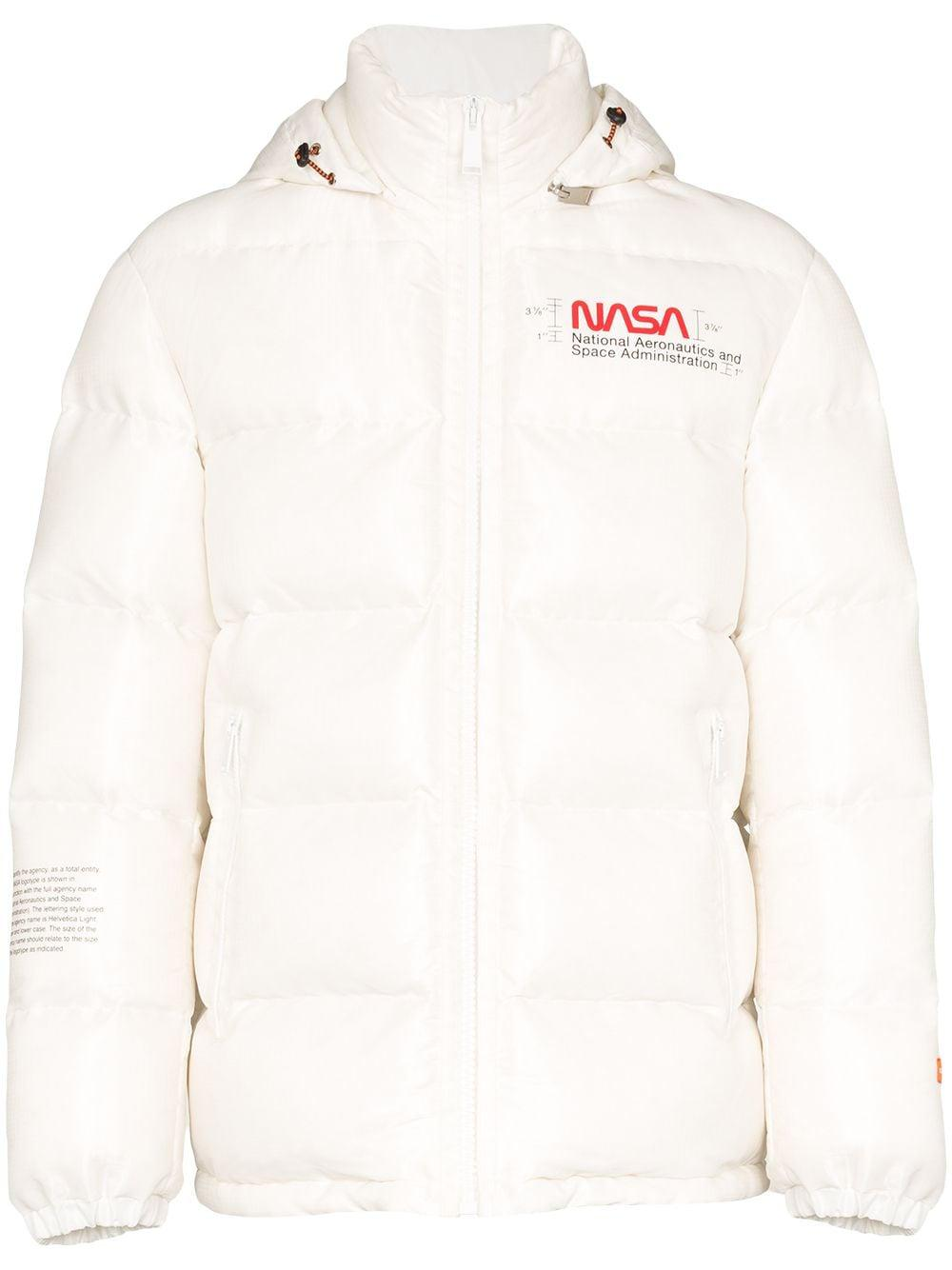 Heron Preston NASA print coat