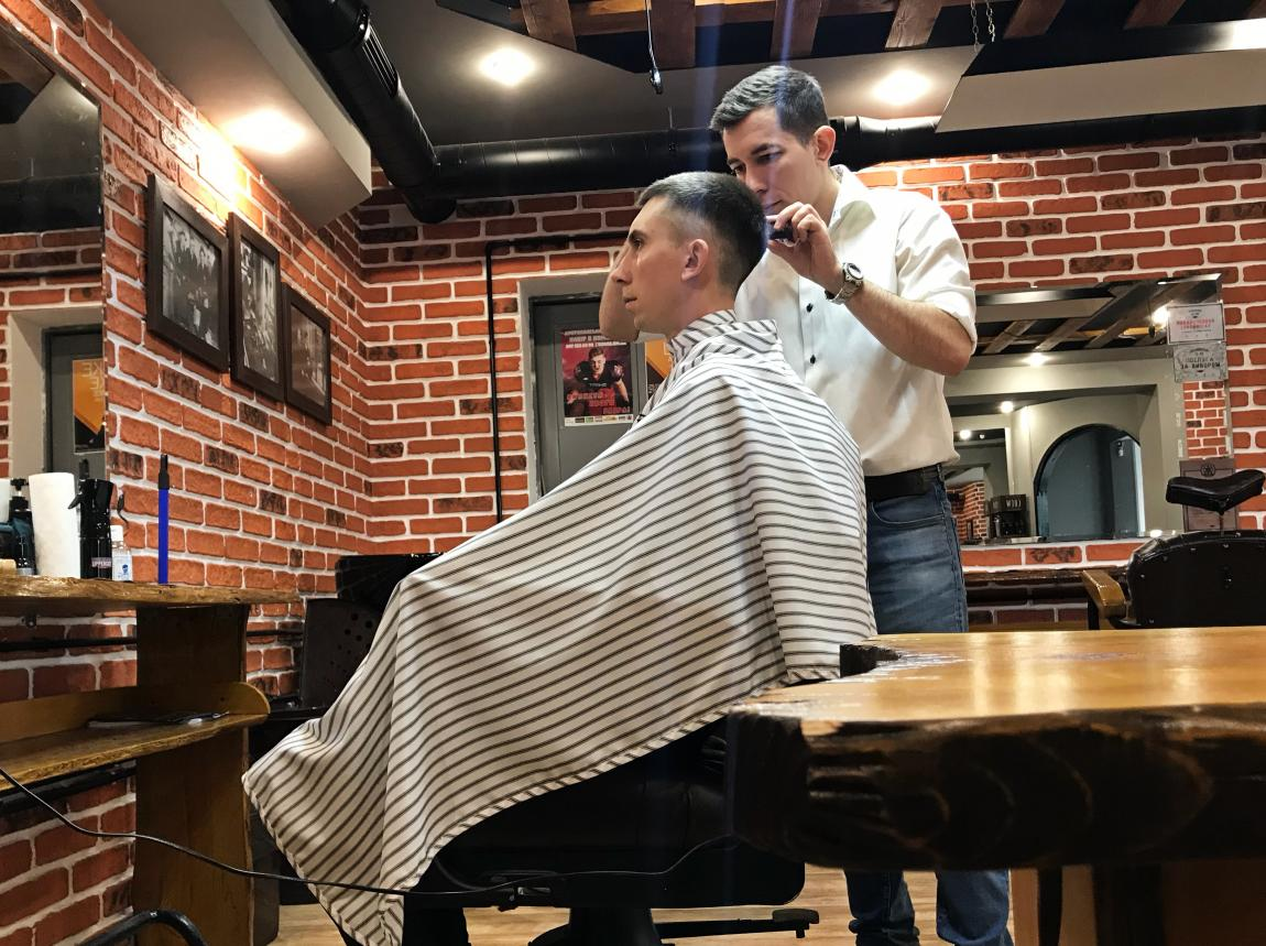 Barbershop is a man's abode