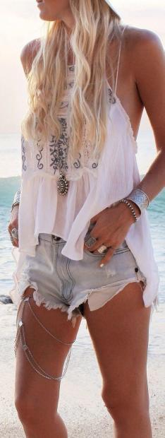 Джинсові шорти модний тренд літа 2017