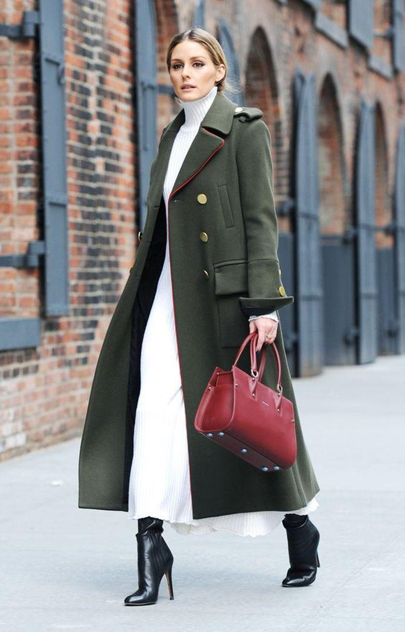 Olivia Palermo's elegant green outfit