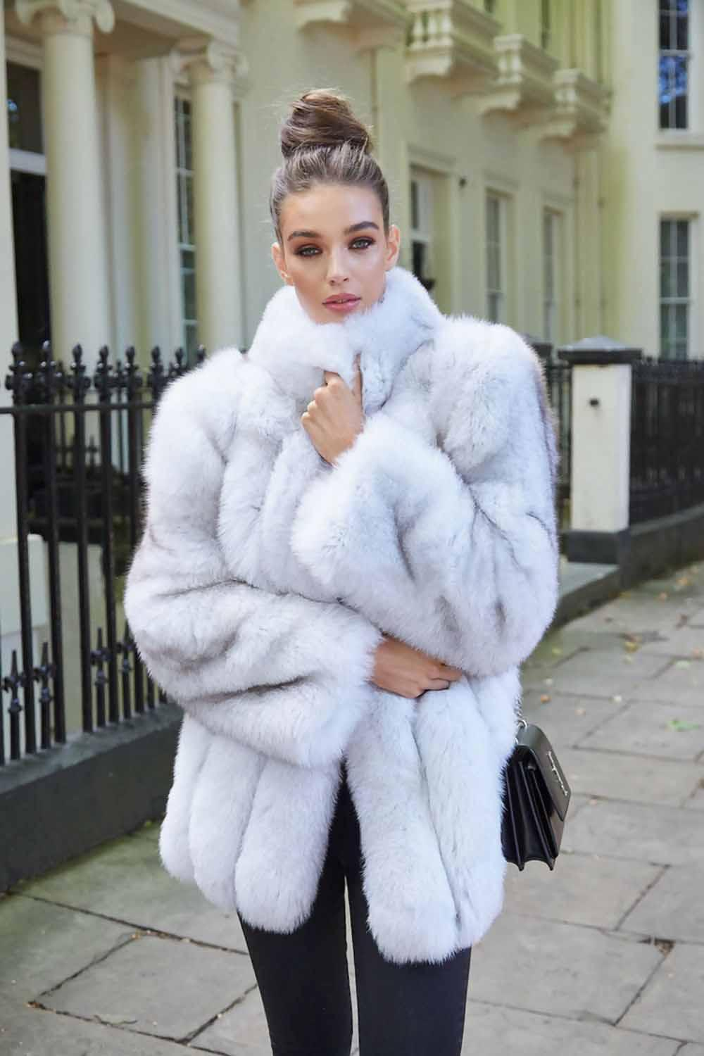 There is nothing better than wrapping up in a fluffy white fur coat