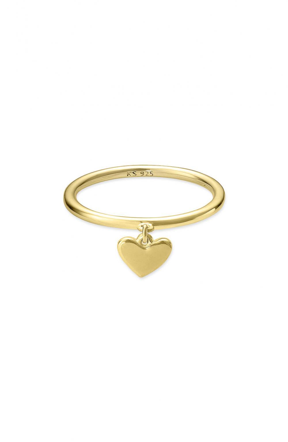 Ari Heart Charm Ring