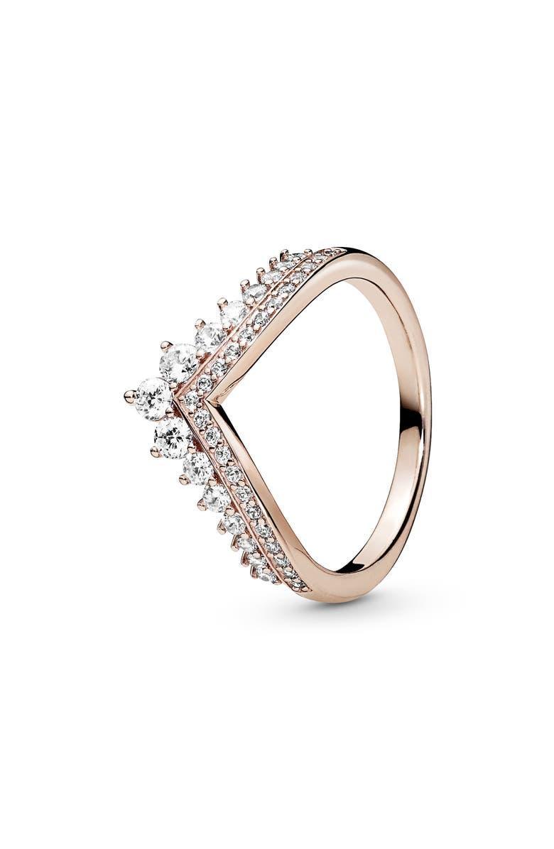 Princess Wishbone Cubic Zirconia Ring