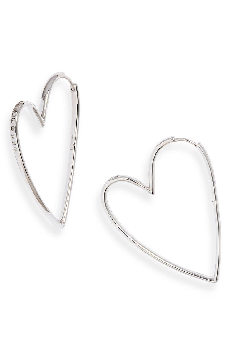 Ansley Heart Hoop Earrings