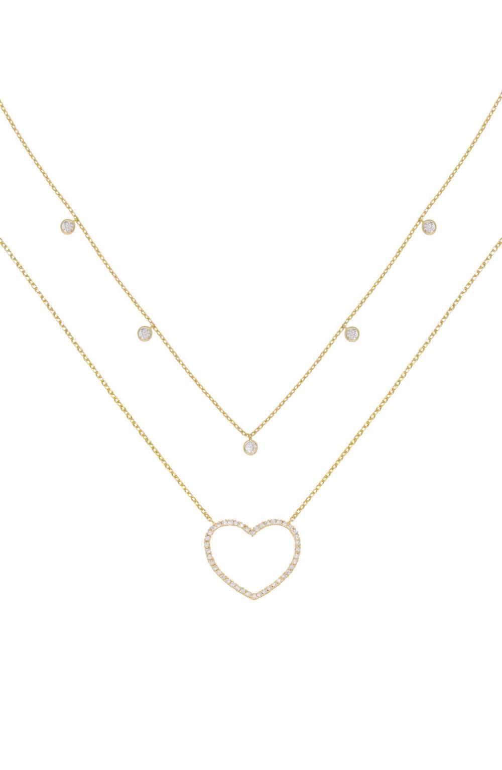 Dainty Heart Set of 2 Pendant Necklaces