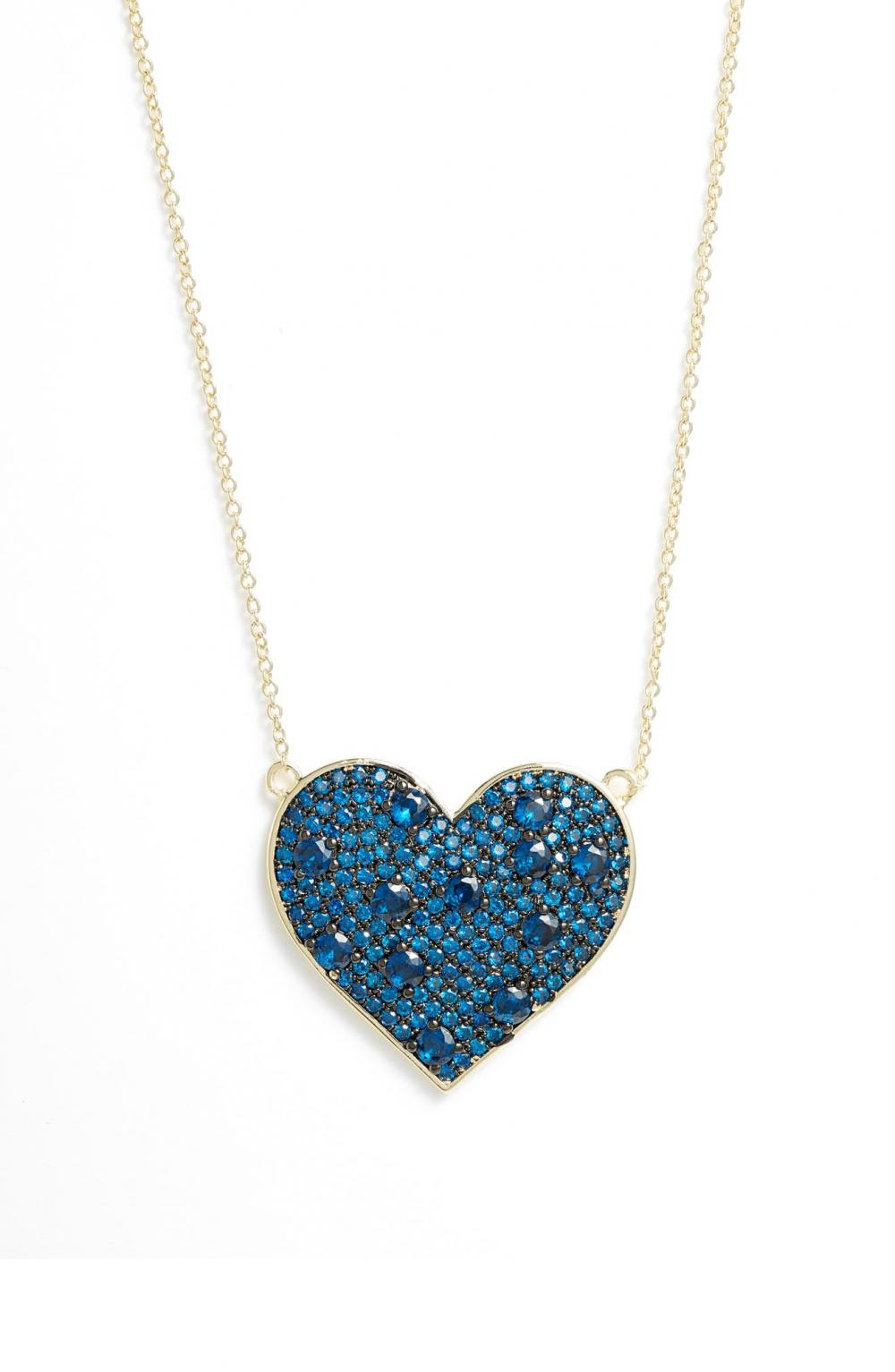 Cubic Zirconia Heart Pendant Necklace